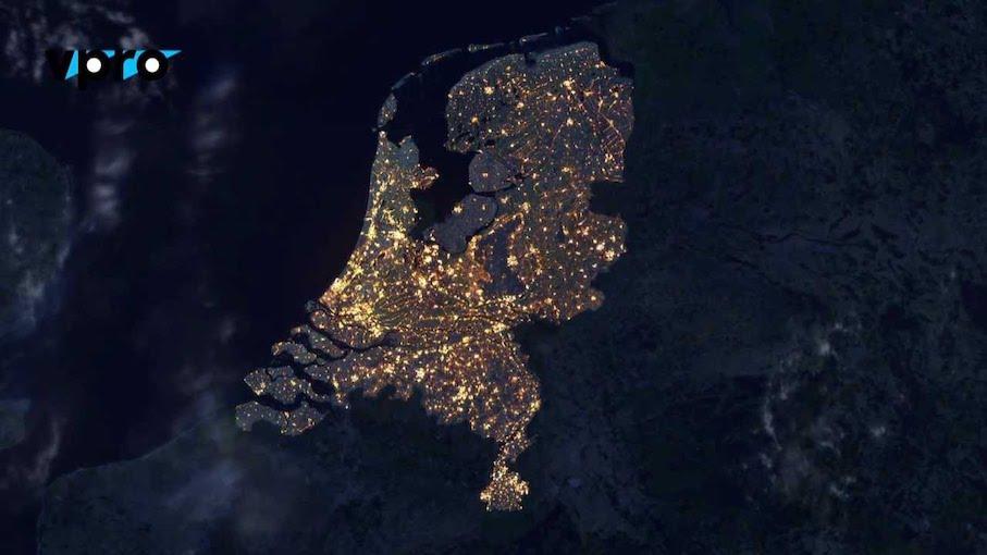 Datavisualisation Netherlands from Above